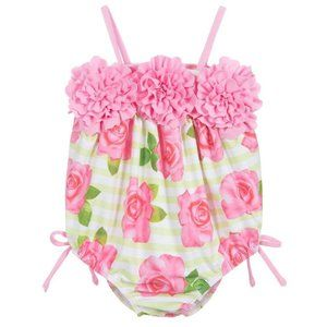 NWT! Kate Mack Floral One Piece Swimsuit 18M Pink